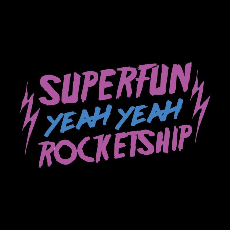Superfun Logo Men's T-Shirt by Superfun Yeah Yeah Rocketship!