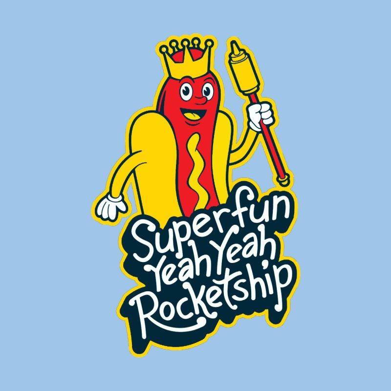 Weiner King Men's T-Shirt by Superfun Yeah Yeah Rocketship!