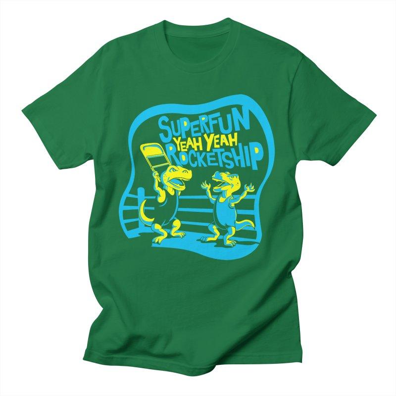 Dino Wrestlers! Men's T-Shirt by Superfun Yeah Yeah Rocketship!