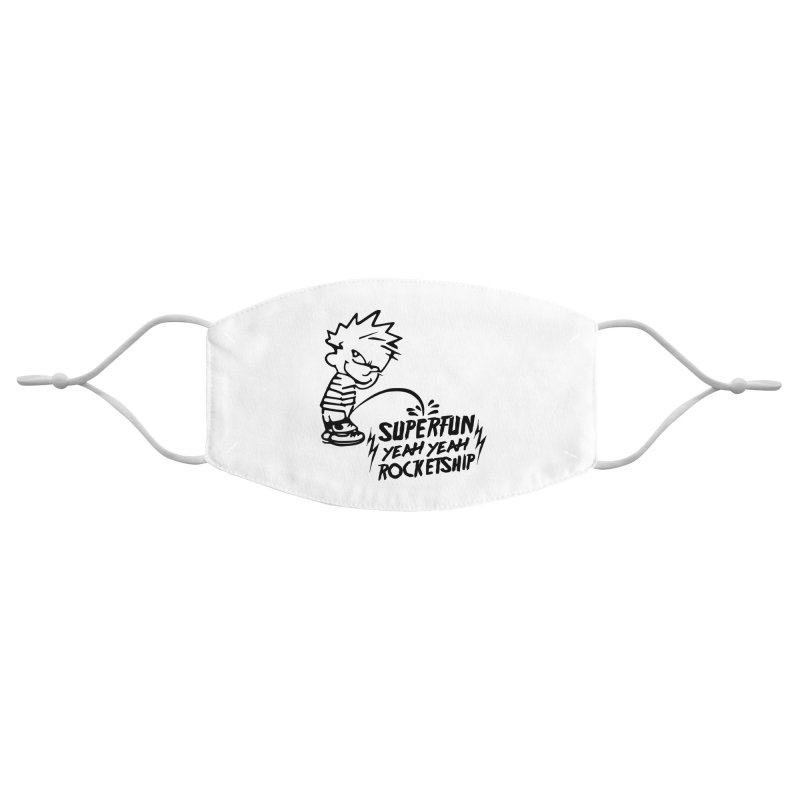 Troubled Youth Accessories Face Mask by Superfun Yeah Yeah Rocketship!