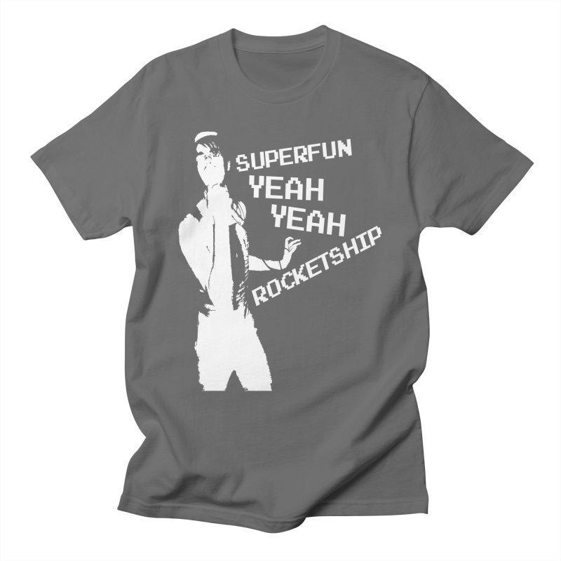 Super old design! Men's T-Shirt by Superfun Yeah Yeah Rocketship!