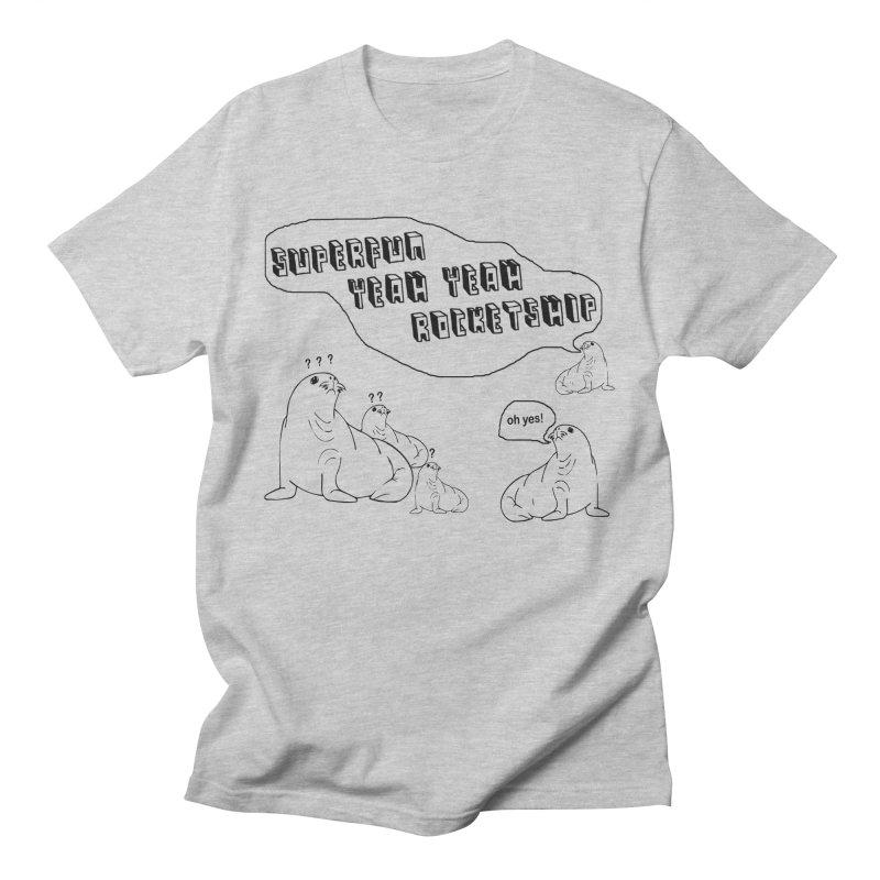 Walrus Party! Men's T-Shirt by Superfun Yeah Yeah Rocketship!
