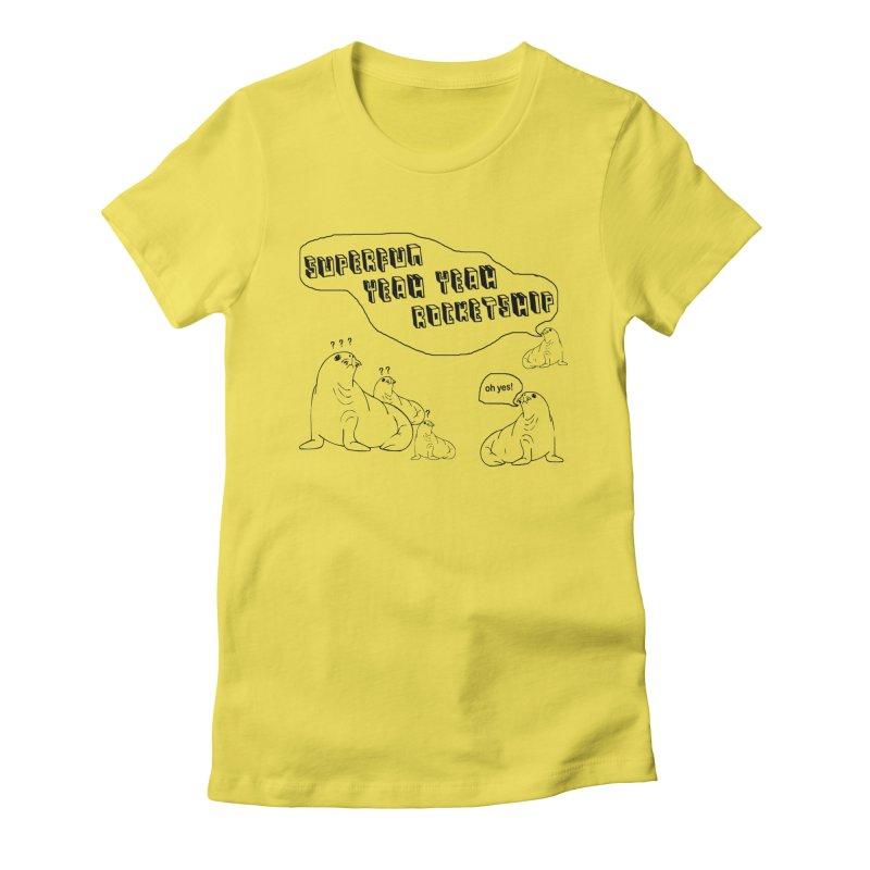 Walrus Party! Women's T-Shirt by Superfun Yeah Yeah Rocketship!