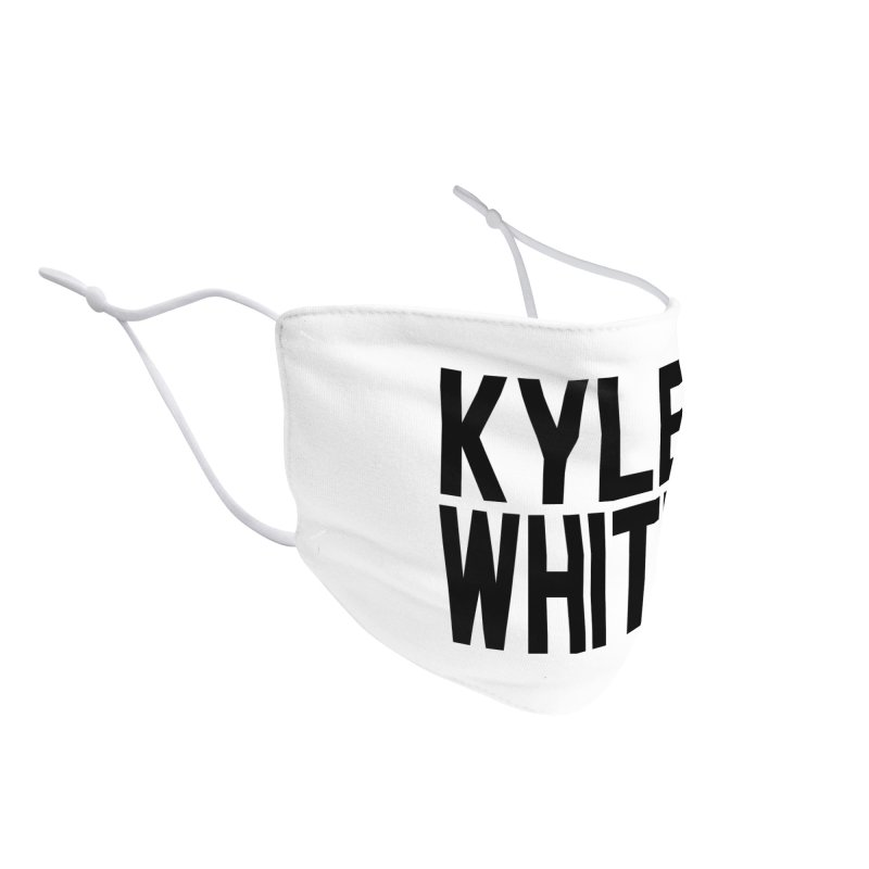 Kyle White Accessories Face Mask by Superfun Yeah Yeah Rocketship!