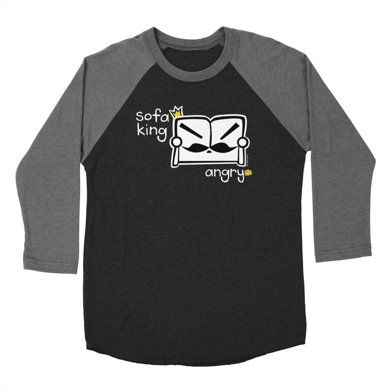 sofa king angry Men's Baseball Triblend T-Shirt by super good clothing @ threadless!