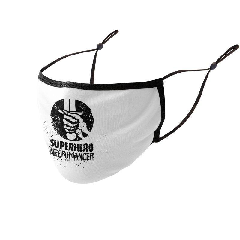 Superhero Necromancer Press Logo (Black) Accessories Face Mask by Superhero Necromancer Press