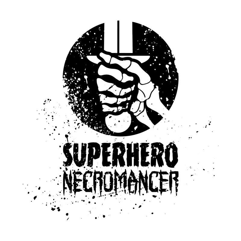 Superhero Necromancer Press Logo (Black) Kids T-Shirt by Superhero Necromancer Press