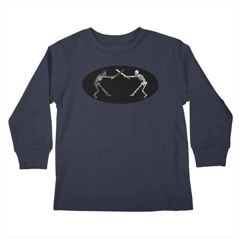 Crossed Swords Kids Longsleeve T-Shirt by Superhero Necromancer Press