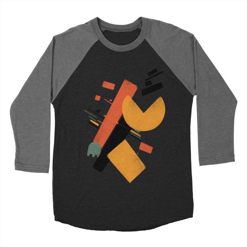 Ghostly Maze Men's Baseball Triblend T-Shirt by superivan's Strange Wear