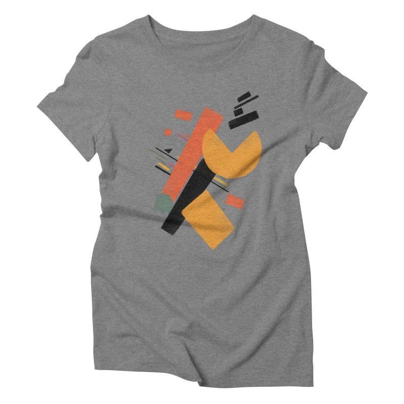Ghostly Maze Women's Triblend T-shirt by superivan's Strange Wear