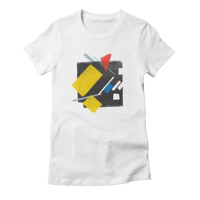 City Women's Fitted T-Shirt by superivan's Strange Wear