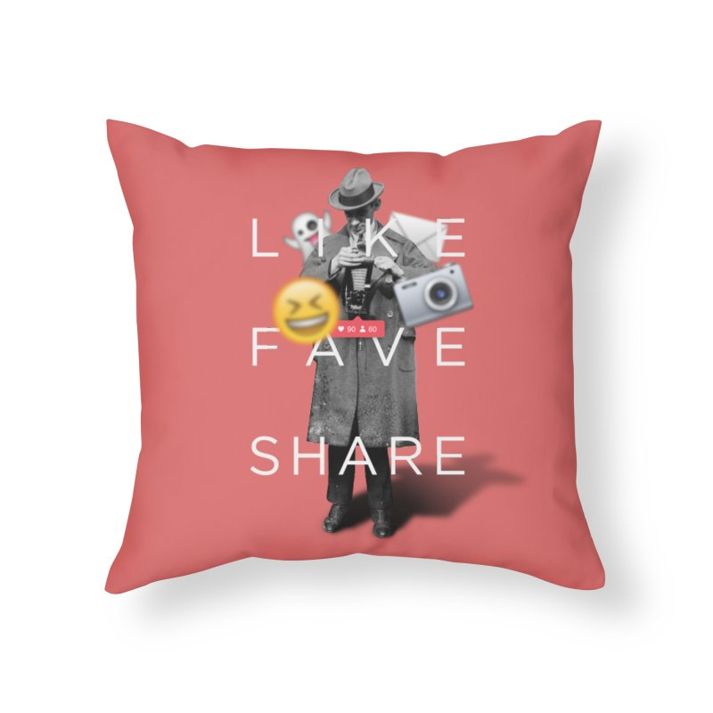 Everyday Life Home Throw Pillow by superivan's Strange Wear