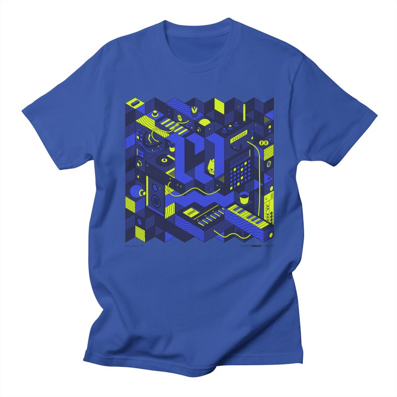 HolaWave.Store 2nd Anniversary in Men's Regular T-Shirt Royal Blue by Super Magic Friend Store