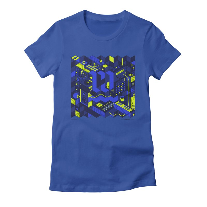 HolaWave.Store 2nd Anniversary in Women's Fitted T-Shirt Royal Blue by Super Magic Friend Store