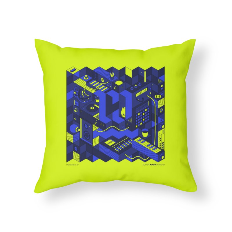HolaWave.Store 2nd Anniversary Home Throw Pillow by Super Magic Friend Store