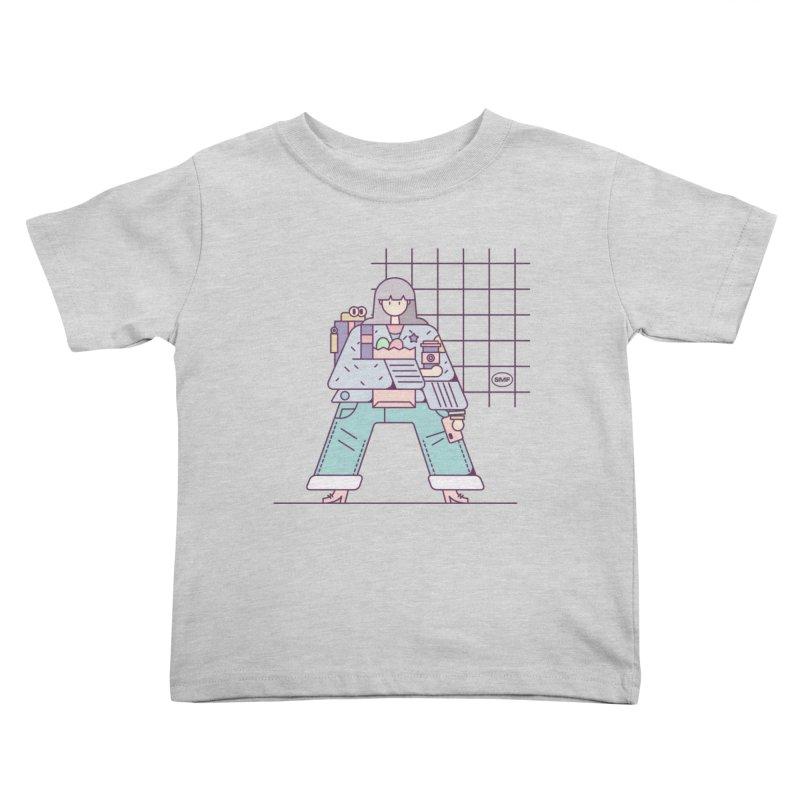 A girl Kids Toddler T-Shirt by Super Magic Friend Store