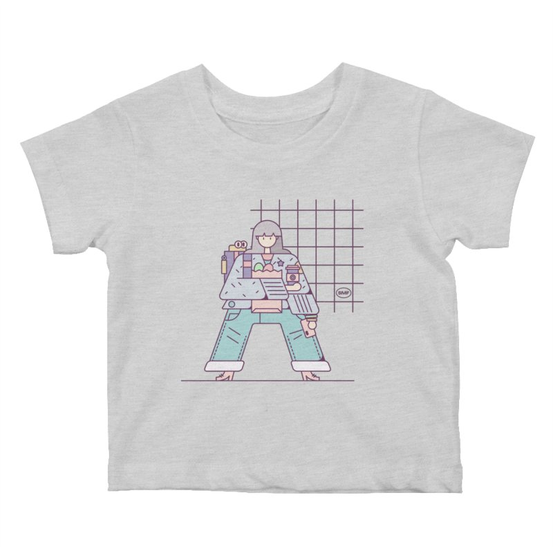 A girl Kids Baby T-Shirt by Super Magic Friend Store