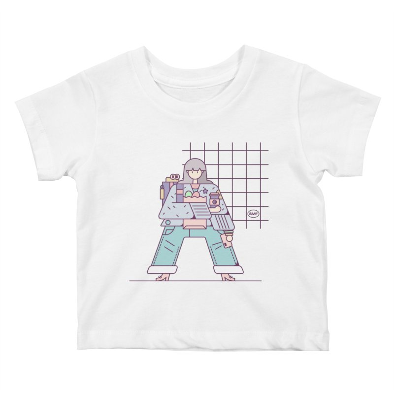 A girl Kids Baby T-Shirt by Super Magic Friend Store