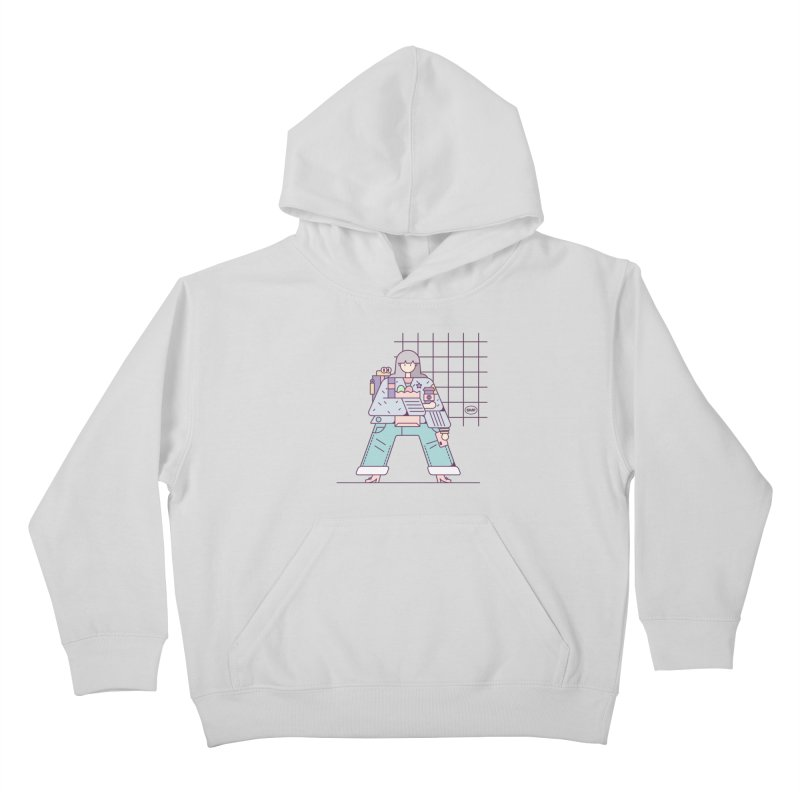A girl Kids Pullover Hoody by Super Magic Friend Store