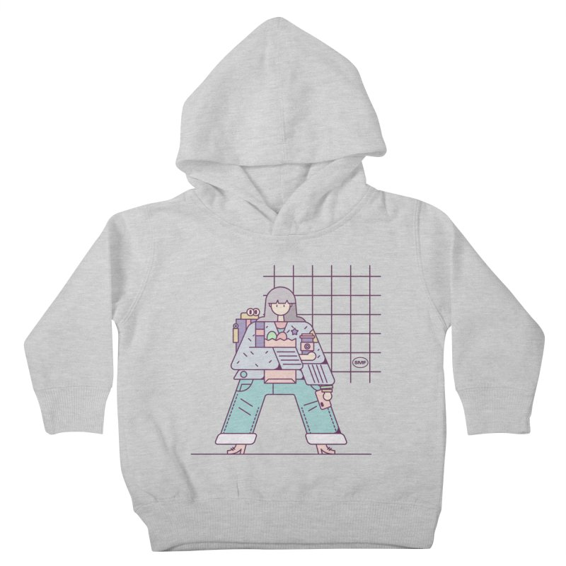 A girl Kids Toddler Pullover Hoody by Super Magic Friend Store