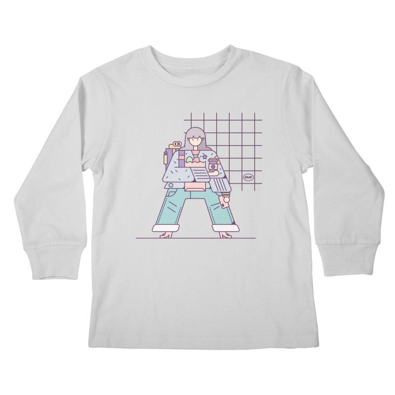 A girl Kids Longsleeve T-Shirt by Super Magic Friend Store