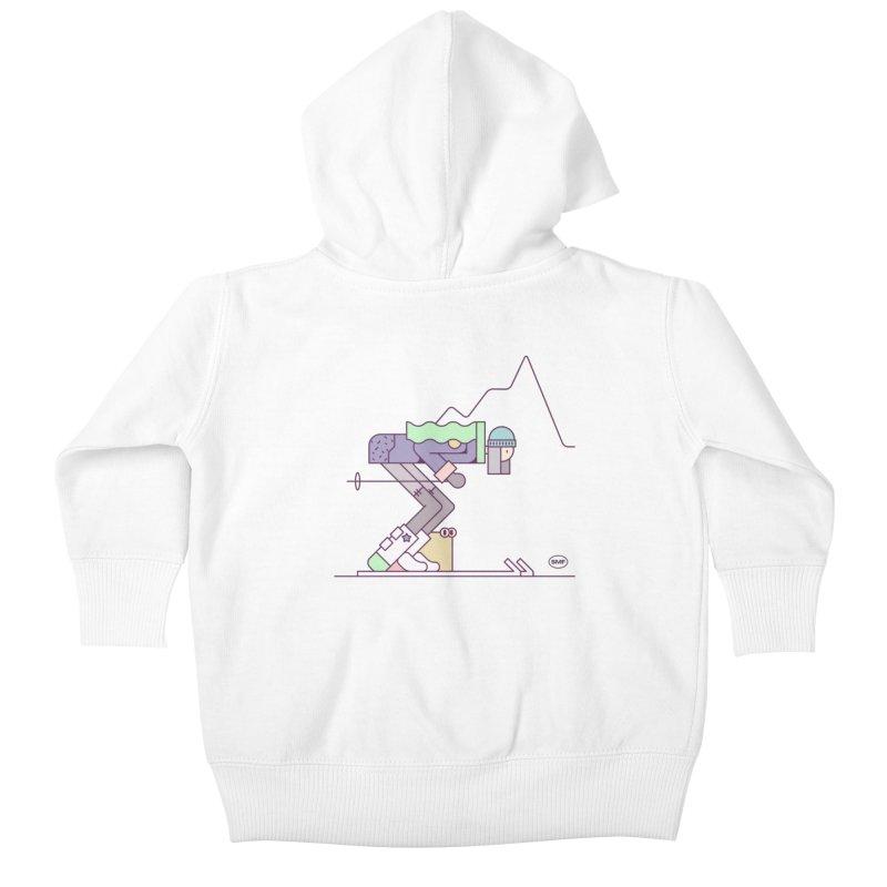 E girl Kids Baby Zip-Up Hoody by Super Magic Friend Store