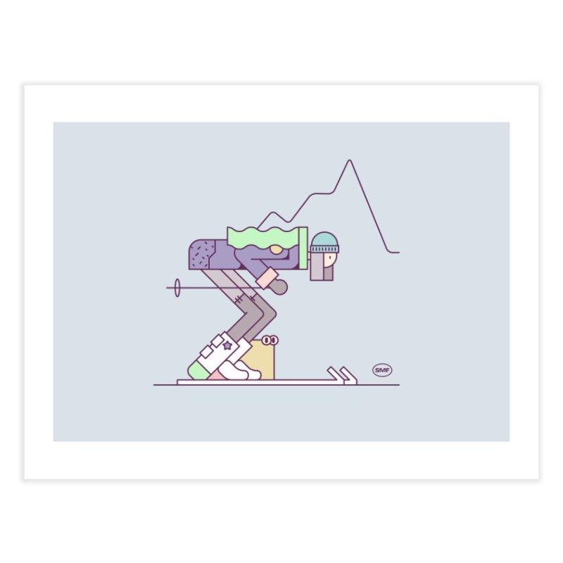 E girl Home Fine Art Print by Super Magic Friend Store