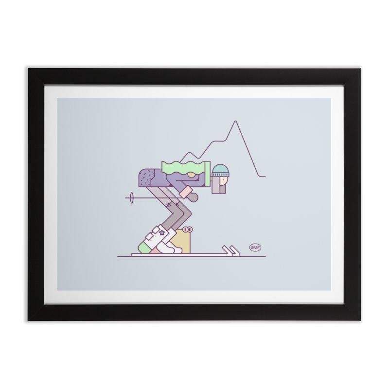 E girl Home Framed Fine Art Print by Super Magic Friend Store