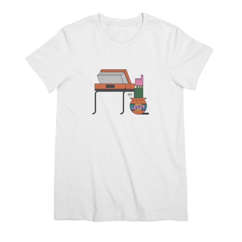 Model F(inger) Women's Premium T-Shirt by Super Magic Friend Store