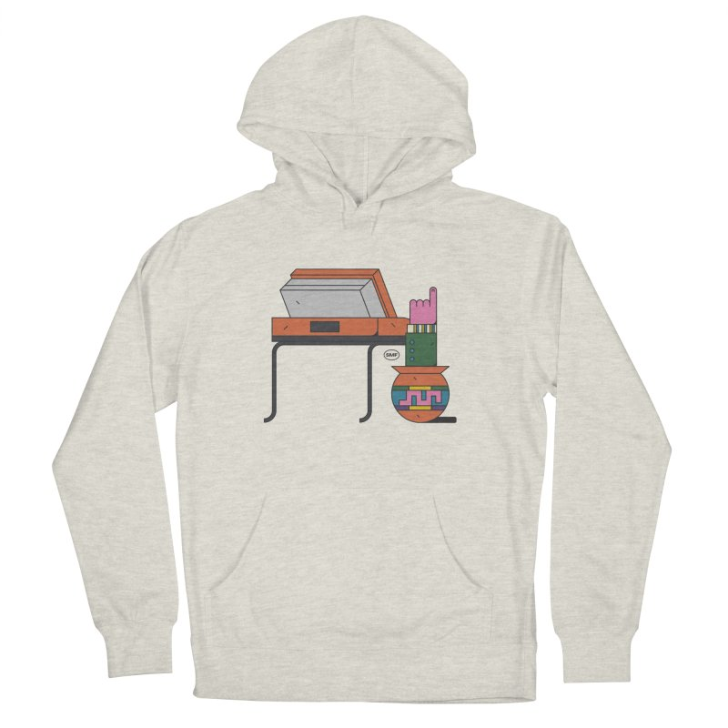 Model F(inger) Women's French Terry Pullover Hoody by Super Magic Friend Store