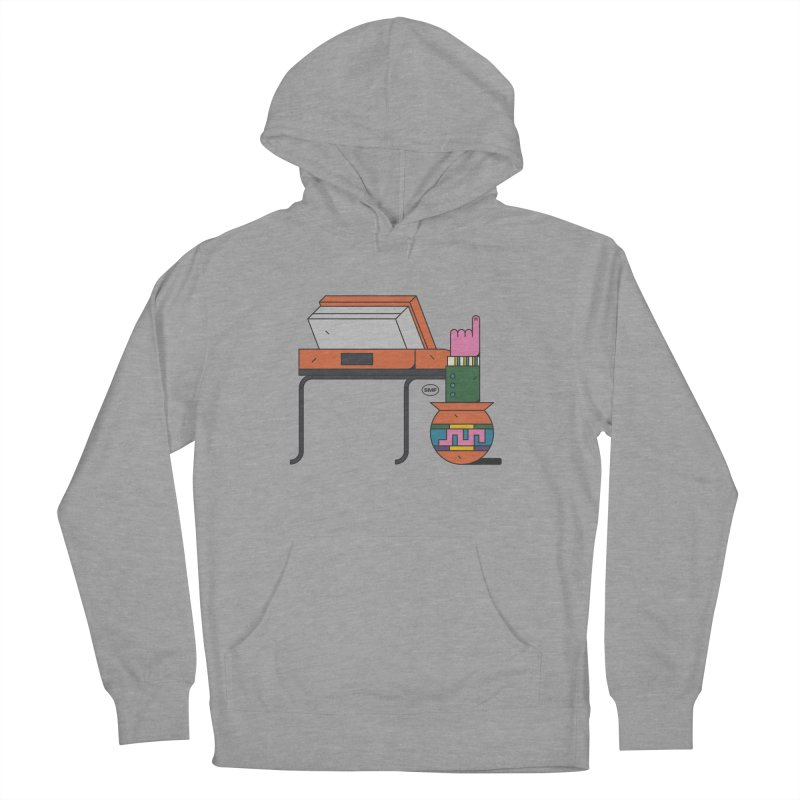 Model F(inger) Men's French Terry Pullover Hoody by Super Magic Friend Store