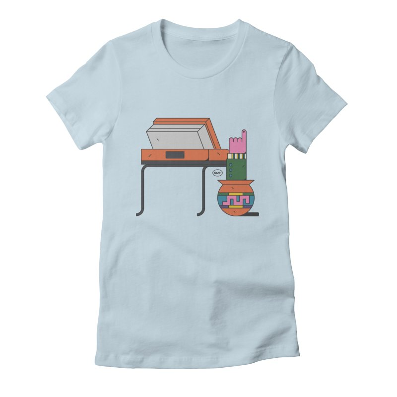 Model F(inger) Women's Fitted T-Shirt by Super Magic Friend Store