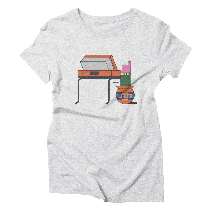 Model F(inger) Women's Triblend T-Shirt by Super Magic Friend Store
