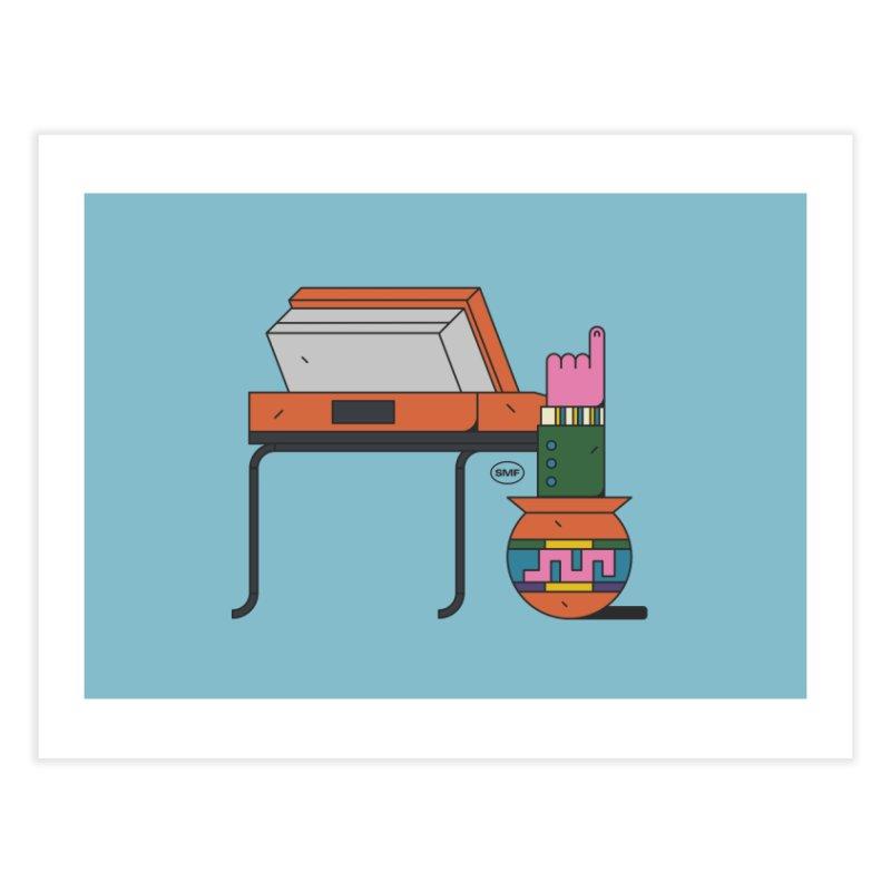 Model F(inger) Home Fine Art Print by Super Magic Friend Store