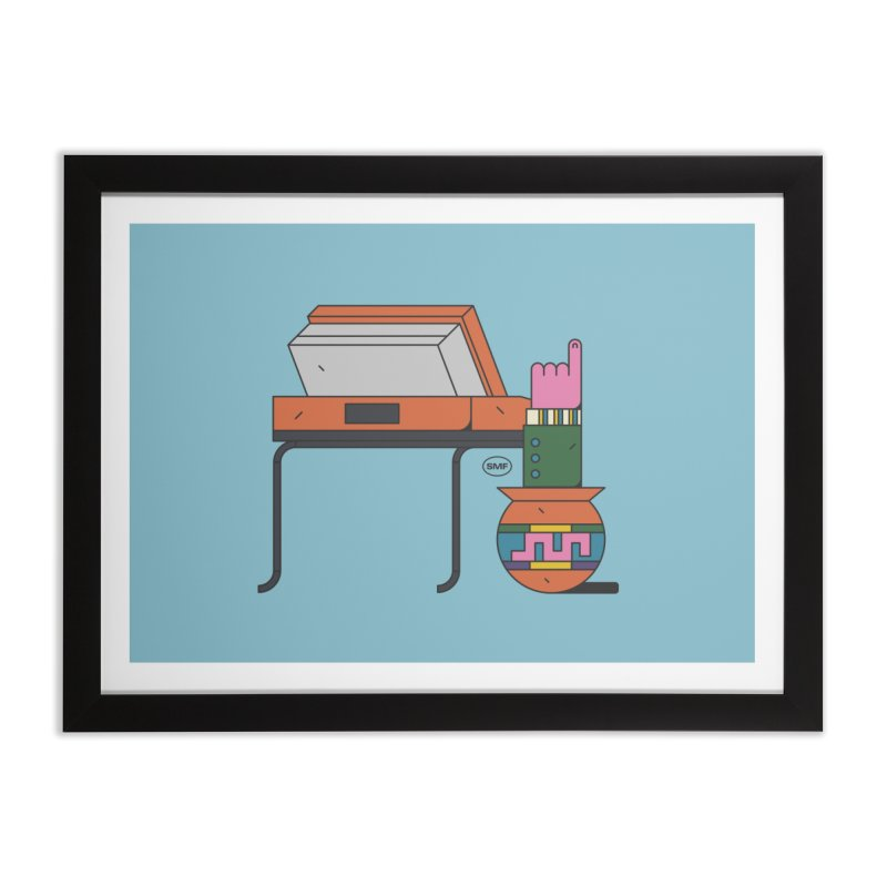 Model F(inger) Home Framed Fine Art Print by Super Magic Friend Store