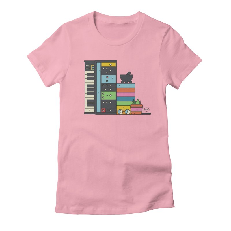 Granny Women's Fitted T-Shirt by Super Magic Friend Store