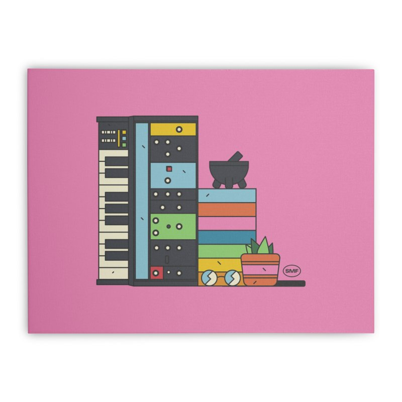 Granny Home Stretched Canvas by Super Magic Friend Store
