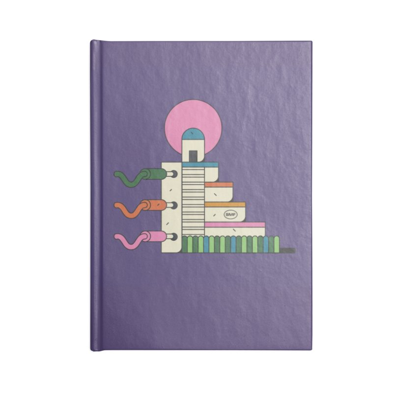 Mayan synth temple Accessories Blank Journal Notebook by Super Magic Friend Store