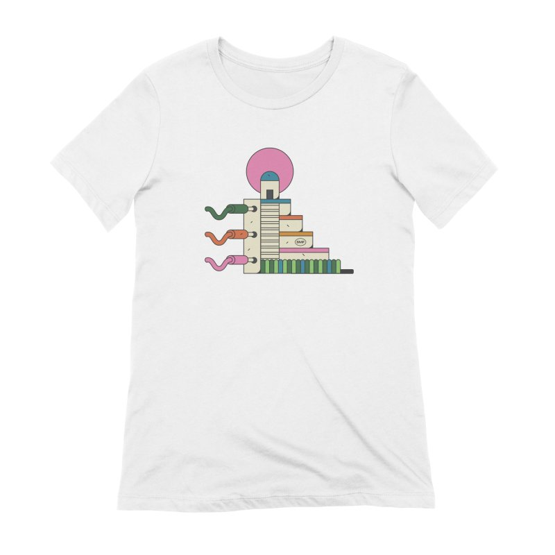 Mayan synth temple Women's Extra Soft T-Shirt by Super Magic Friend Store