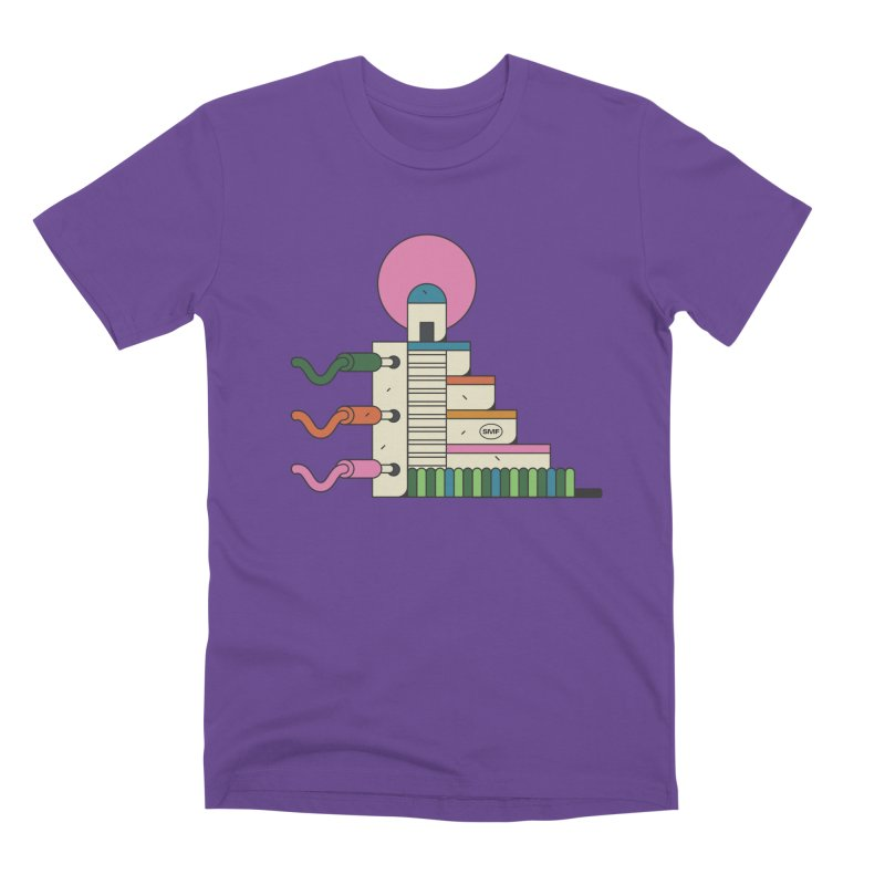 Mayan synth temple Men's Premium T-Shirt by Super Magic Friend Store