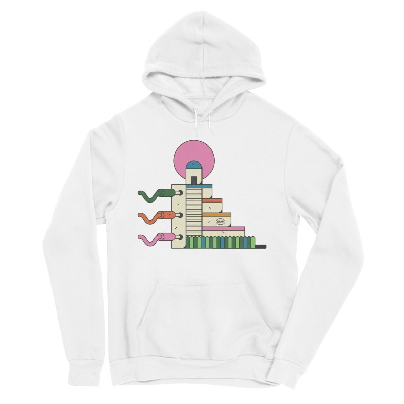 Mayan synth temple Women's Sponge Fleece Pullover Hoody by Super Magic Friend Store