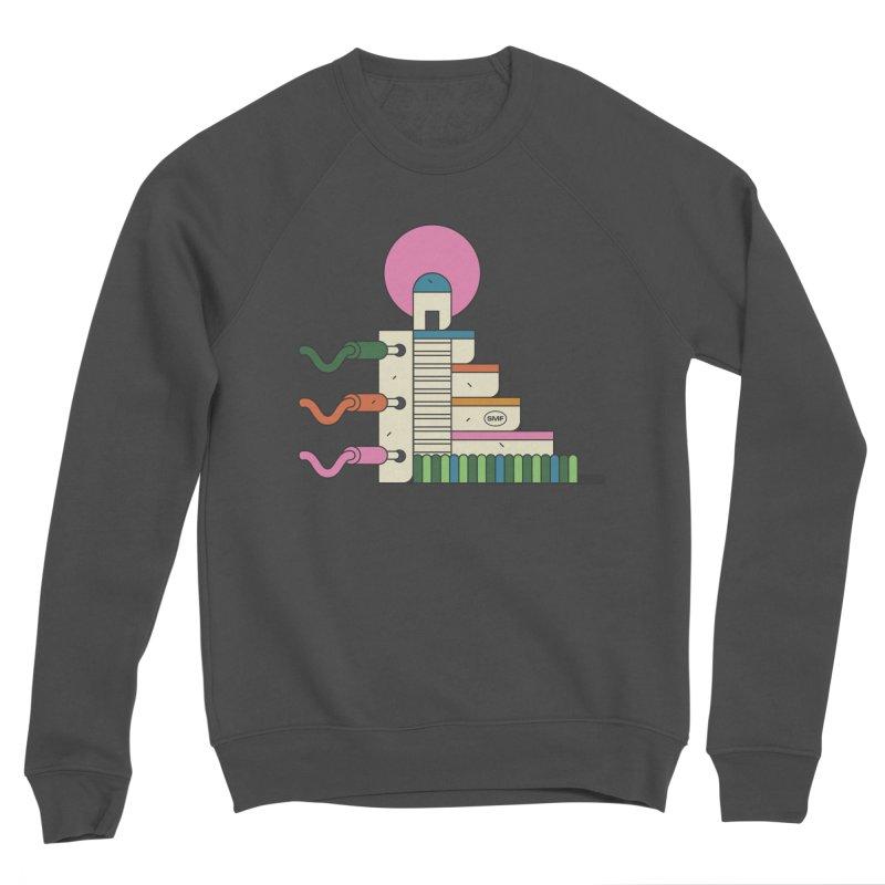 Mayan synth temple Women's Sponge Fleece Sweatshirt by Super Magic Friend Store