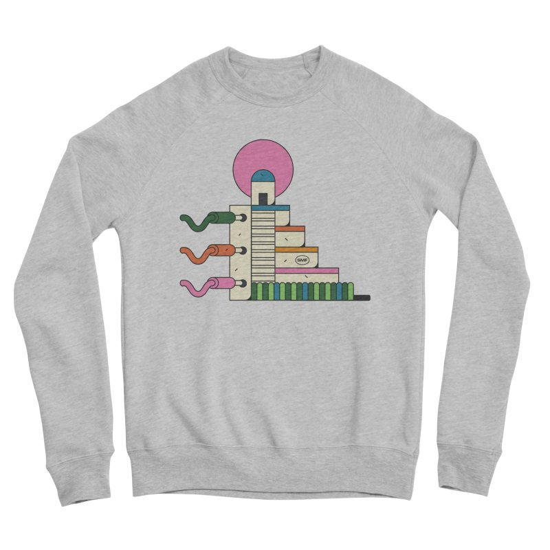 Mayan synth temple Men's Sponge Fleece Sweatshirt by Super Magic Friend Store