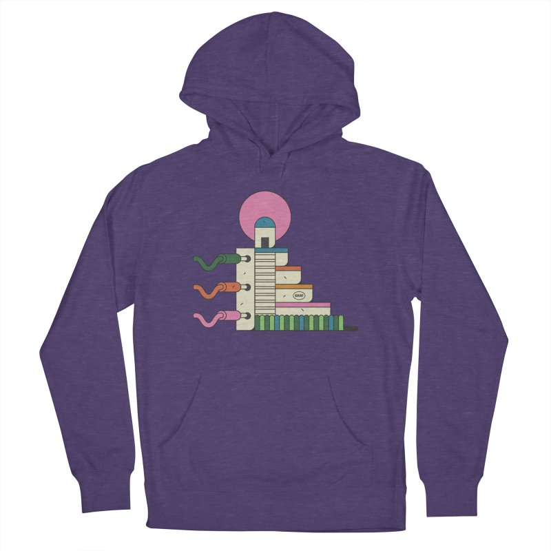 Mayan synth temple Women's French Terry Pullover Hoody by Super Magic Friend Store