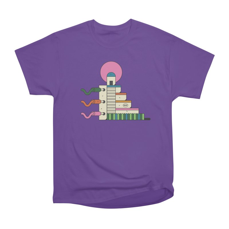 Mayan synth temple Men's Heavyweight T-Shirt by Super Magic Friend Store