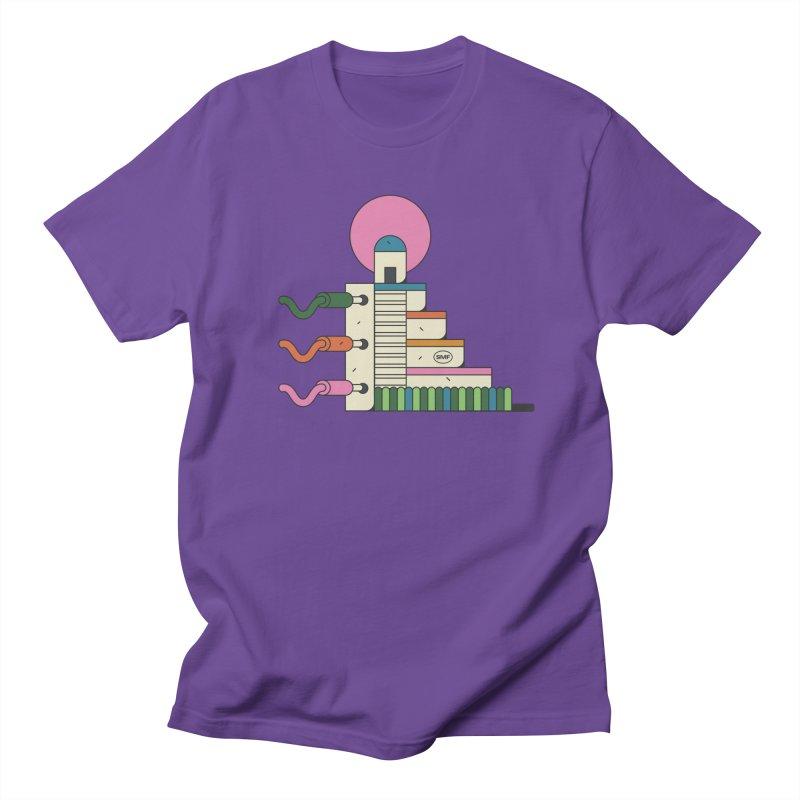 Mayan synth temple Women's Regular Unisex T-Shirt by Super Magic Friend Store