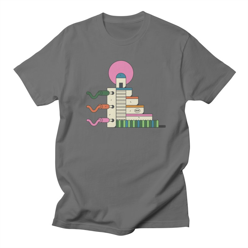 Mayan synth temple Men's T-Shirt by Super Magic Friend Store