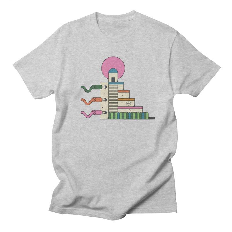 Mayan synth temple Men's Regular T-Shirt by Super Magic Friend Store