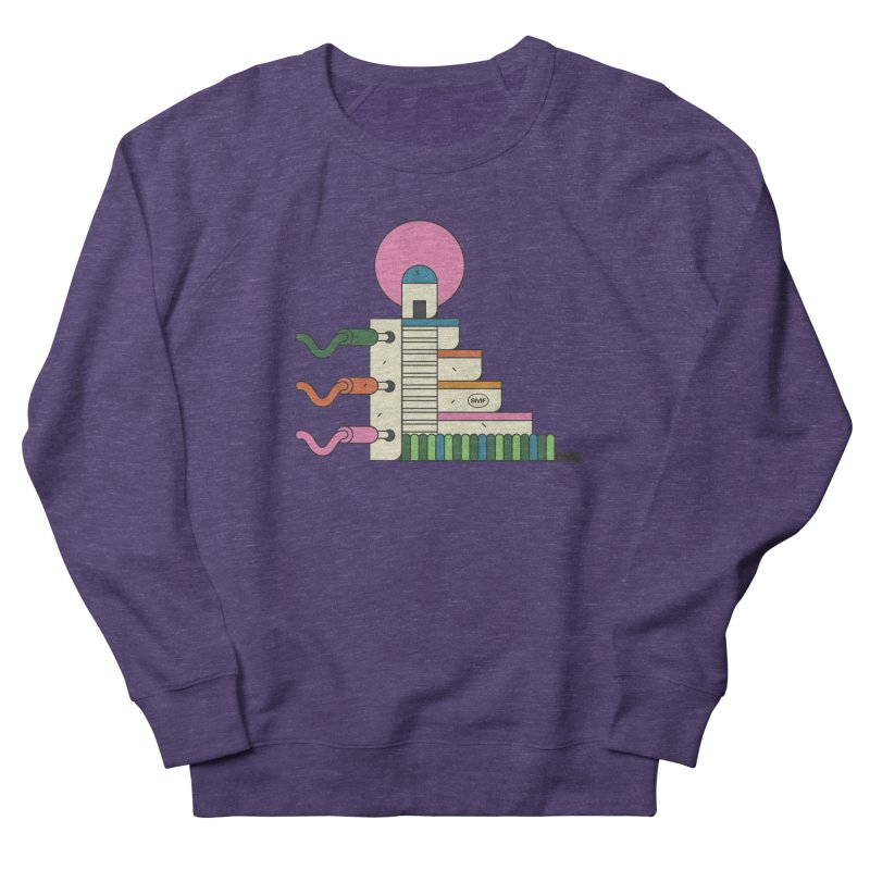 Mayan synth temple Men's French Terry Sweatshirt by Super Magic Friend Store