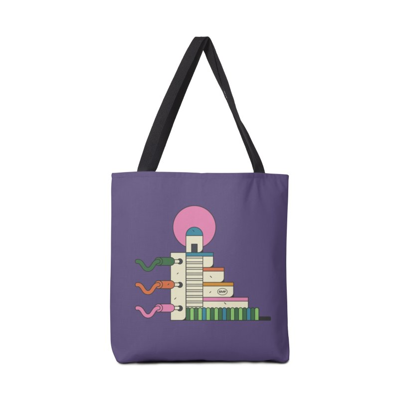 Mayan synth temple Accessories Tote Bag Bag by Super Magic Friend Store